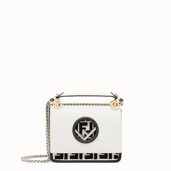 FENDI KAN I F SMALL - Mini sac en cuir blanc - view 1 small thumbnail