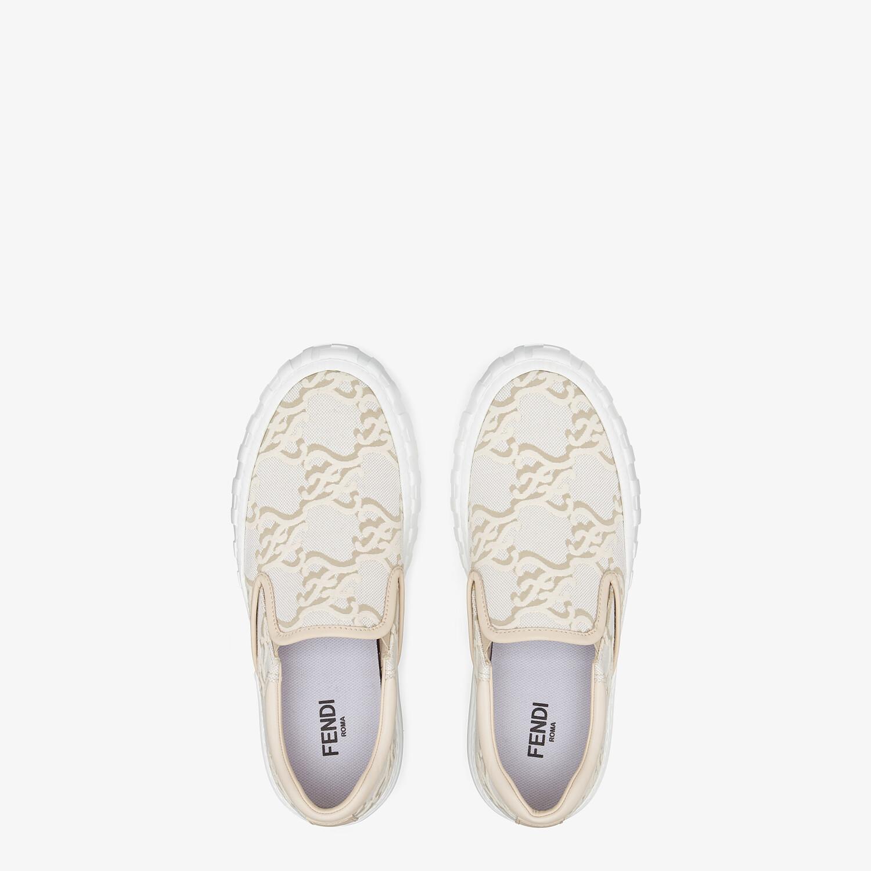 FENDI FENDI FORCE - White fabric sneakers - view 4 detail