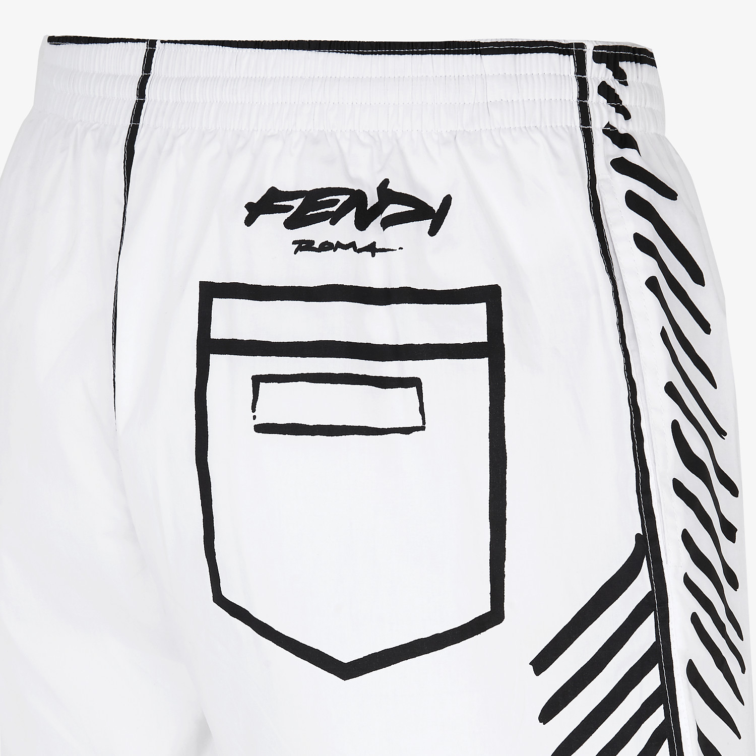 FENDI SWIM SHORTS - Fendi Roma Joshua Vides tech fabric shorts - view 3 detail