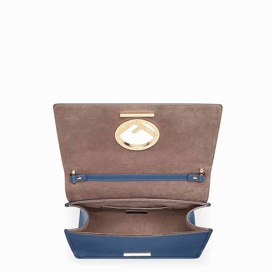 FENDI KAN I LOGO - Blue leather bag - view 4 detail