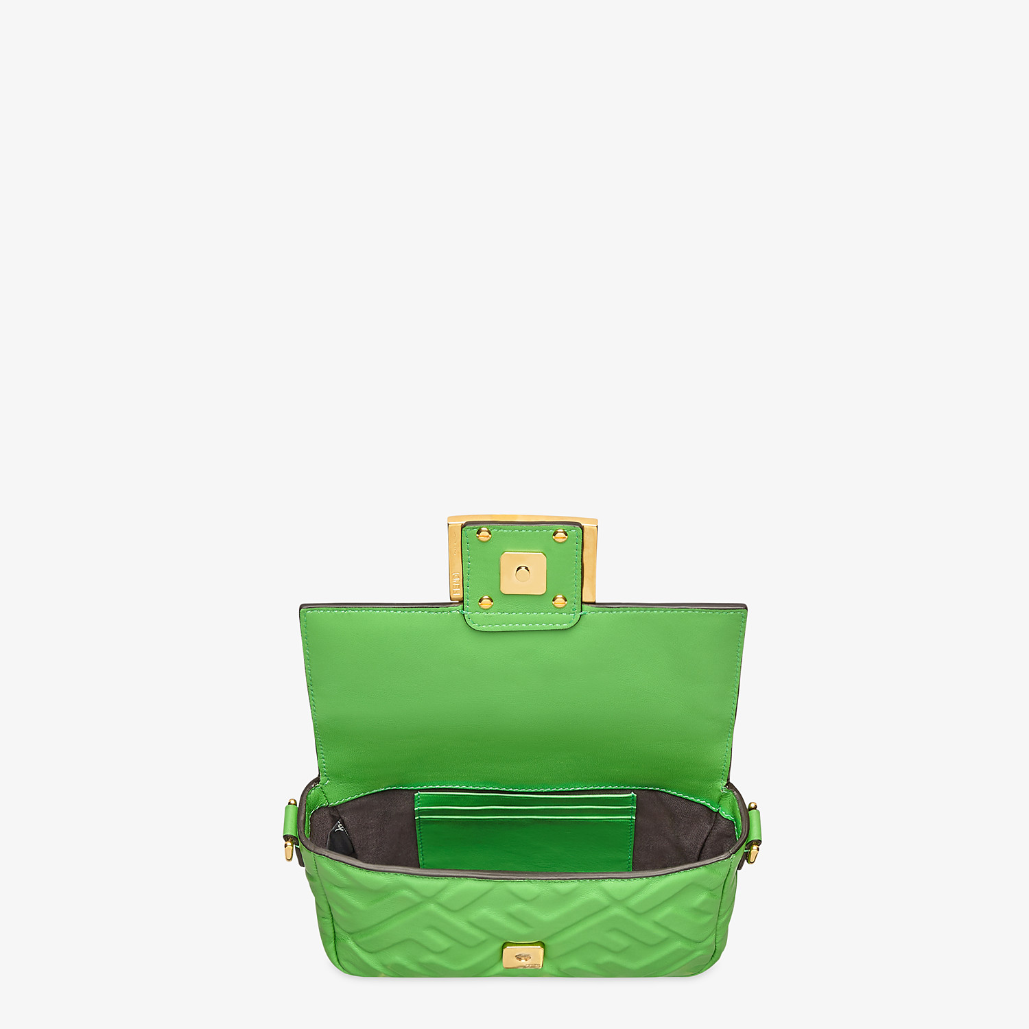 FENDI BAGUETTE - Green nappa leather bag - view 5 detail