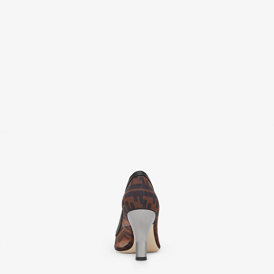FENDI ESCARPINS - Escarpins en maille et cuir noir - view 3 detail