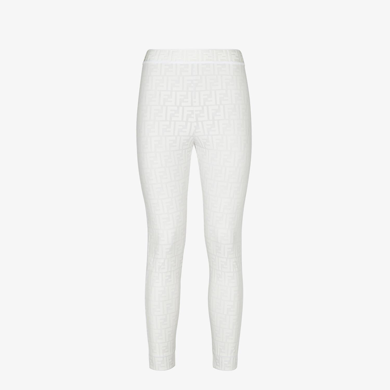 FENDI LEGGINGS - White tech fabric leggings - view 1 detail