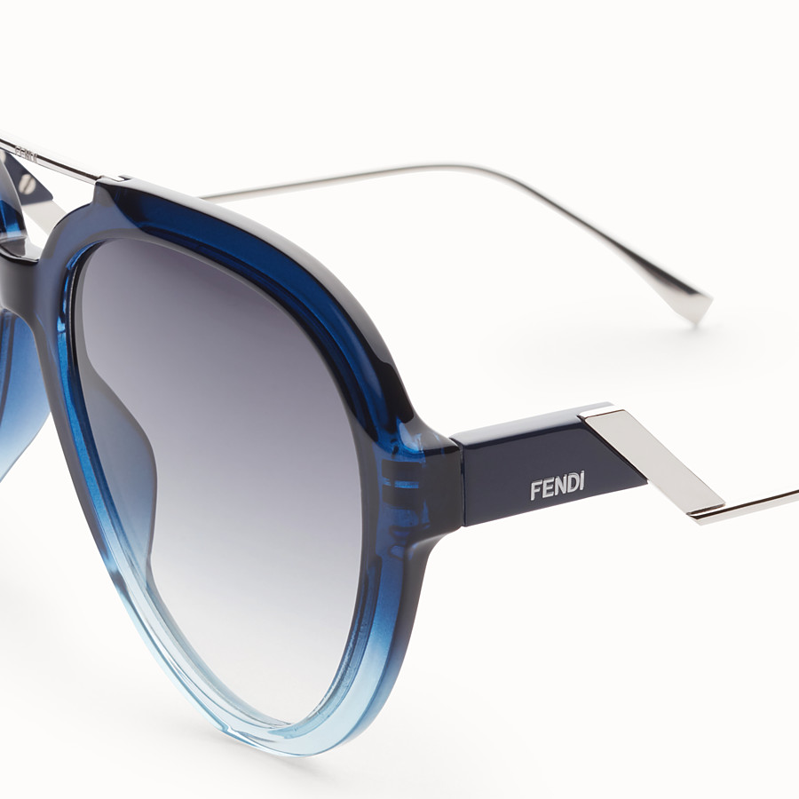 FENDI TROPICAL SHINE - Blue and pale blue sunglasses - view 3 detail