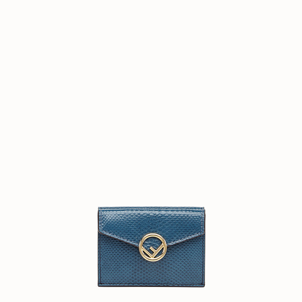 FENDI MICRO TRIFOLD - Blue karung wallet - view 1 small thumbnail