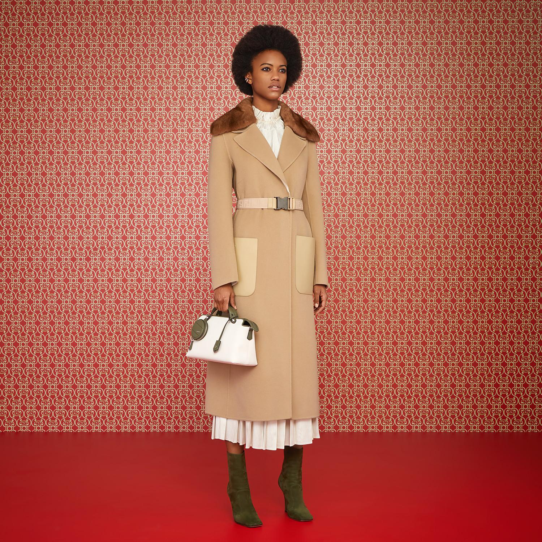 FENDI COAT - Beige cashmere coat - view 4 detail