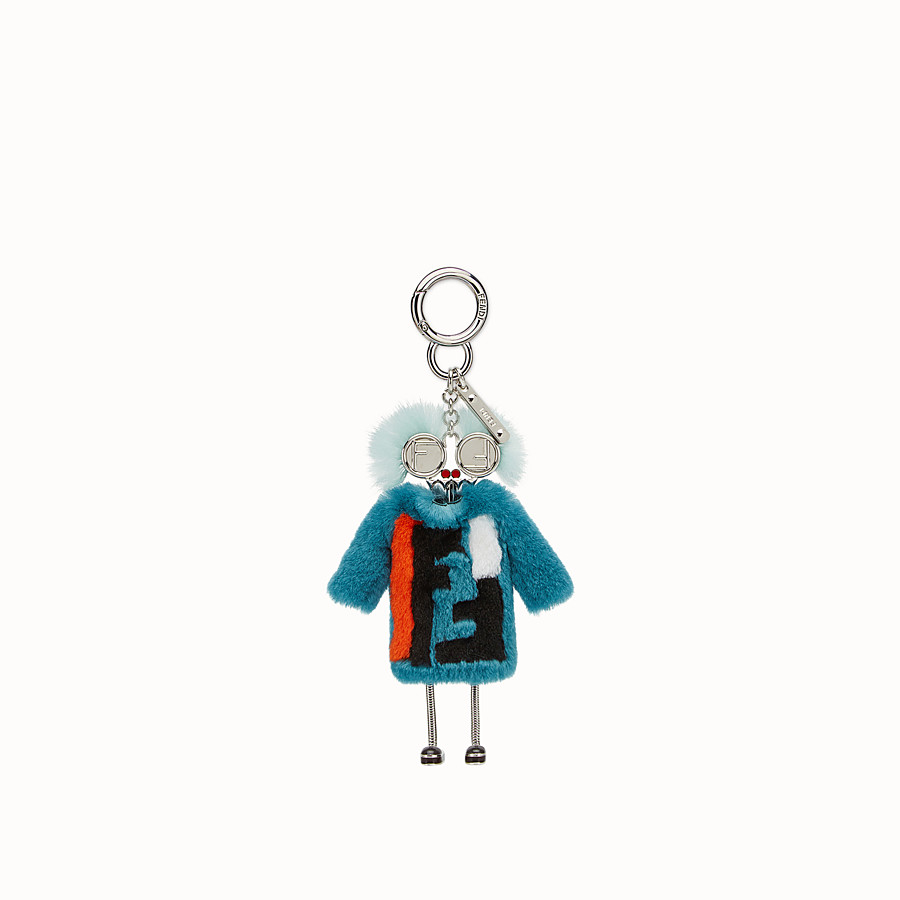 FENDI TEEN WITCHES CHARM - Turquoise rabbit fur charm - view 2 detail