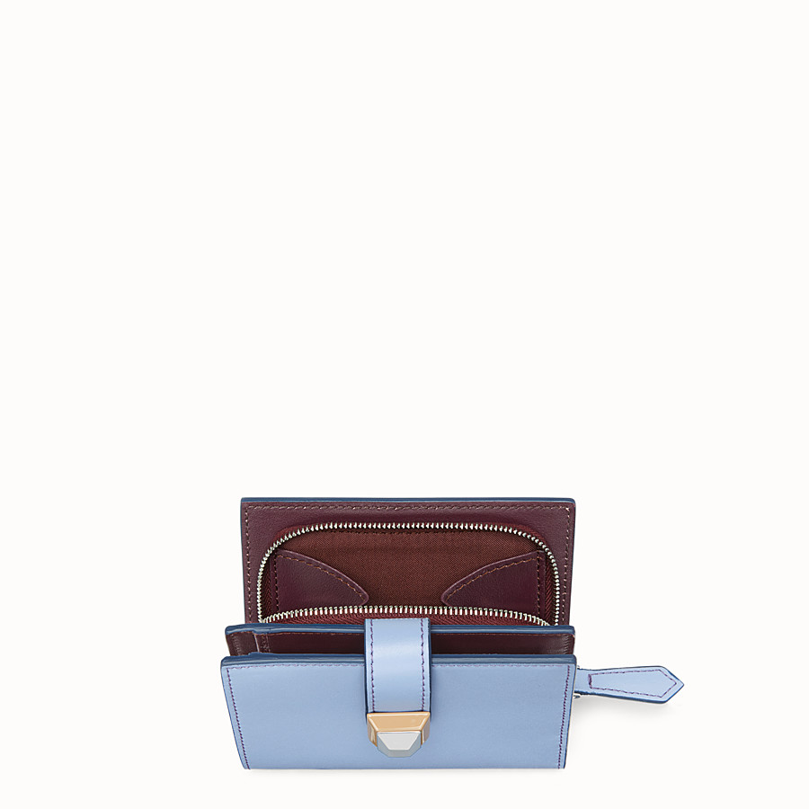 FENDI BIFOLD - Light blue compact leather wallet - view 4 detail
