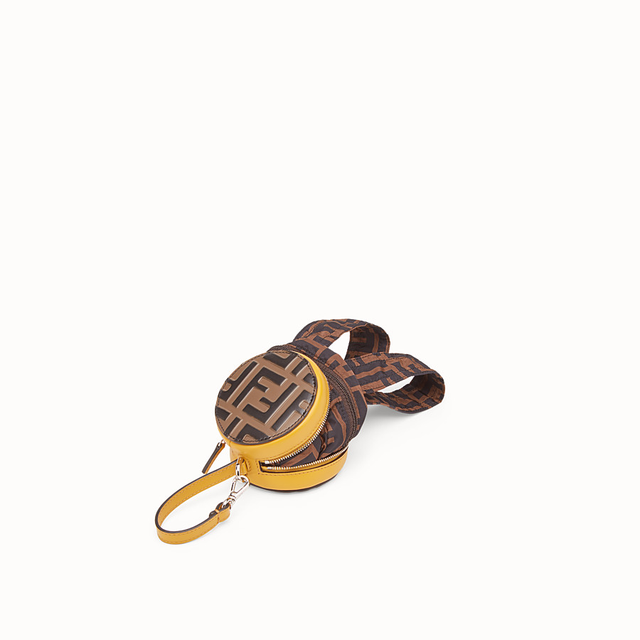 FENDI BACKPACK CHARM - Yellow leather charm - view 2 detail
