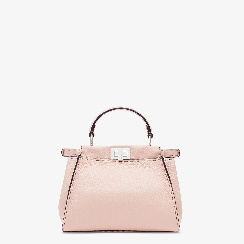 FENDI PEEKABOO ICONIC MINI - Pink leather bag - view 3 detail