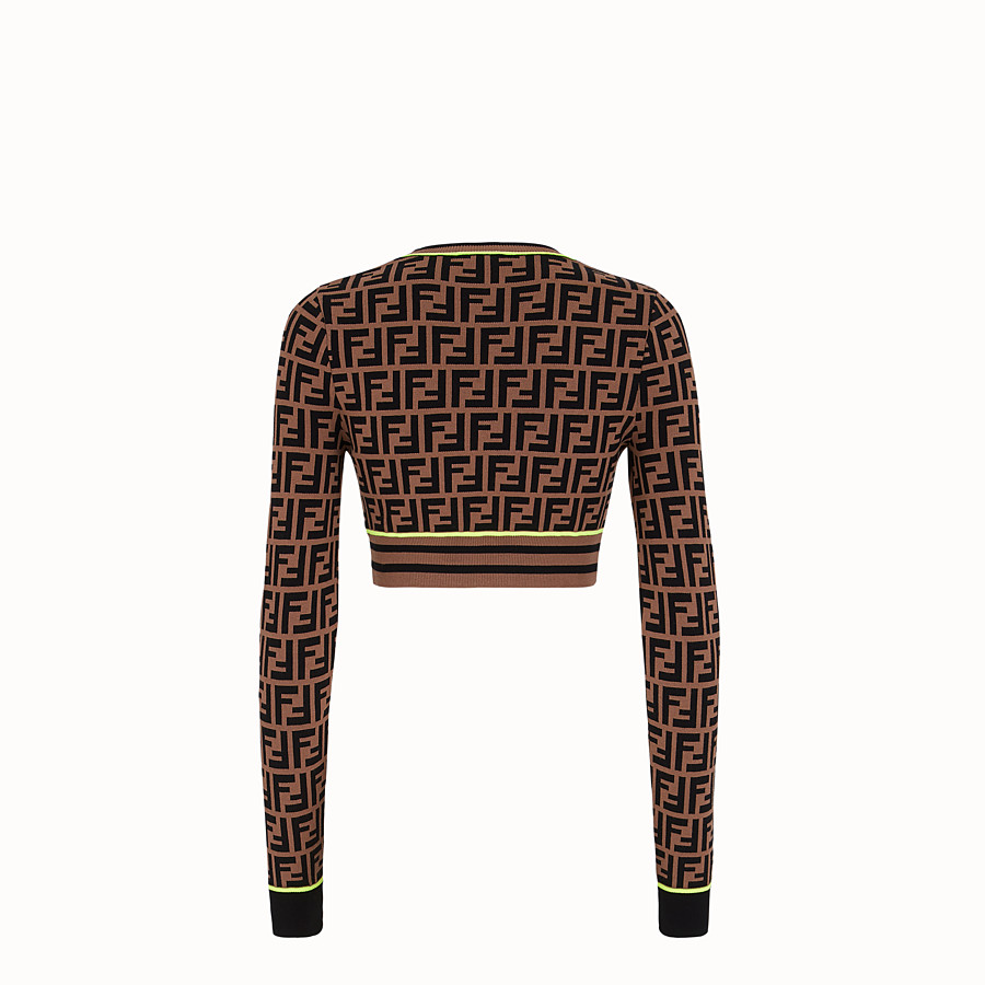 FENDI JUMPER - Fendi Roma Amor fabric jumper - view 2 detail