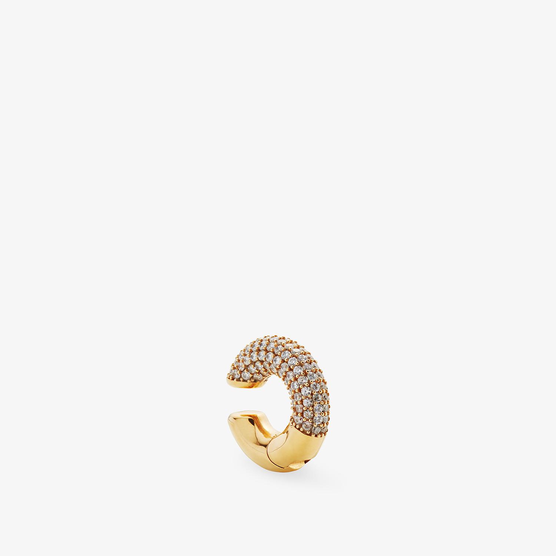 FENDI FENDIOOPS EARRING - Gold-colour earring - view 1 detail