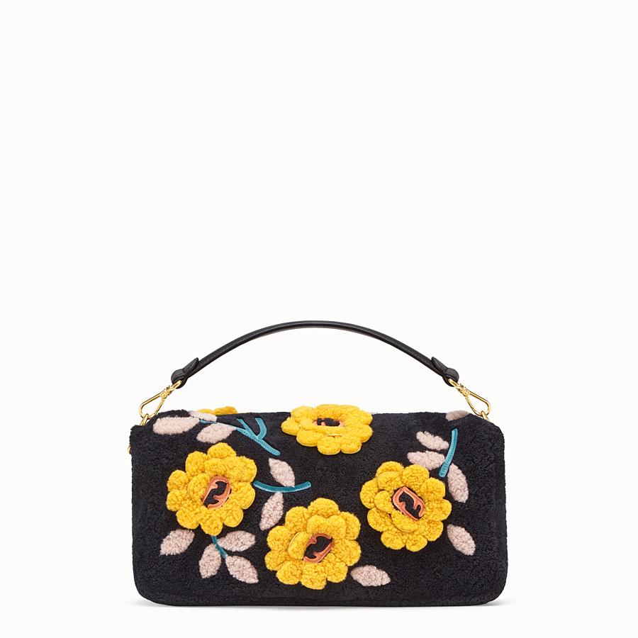 FENDI BAGUETTE LARGE - Multicolour sheepskin bag - view 4 detail