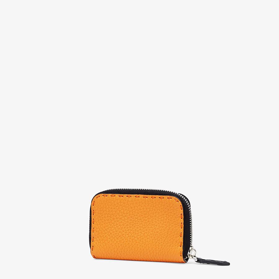 FENDI ZIP-AROUND - Orange leather wallet - view 2 detail
