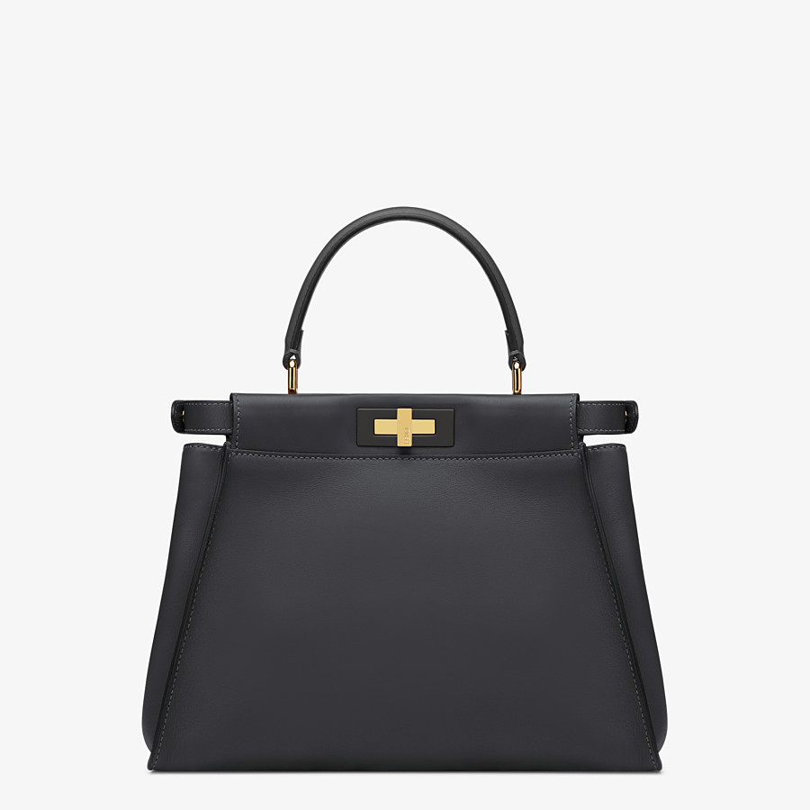 FENDI PEEKABOO ICONIC MEDIUM - handbag in black leather - view 4 detail