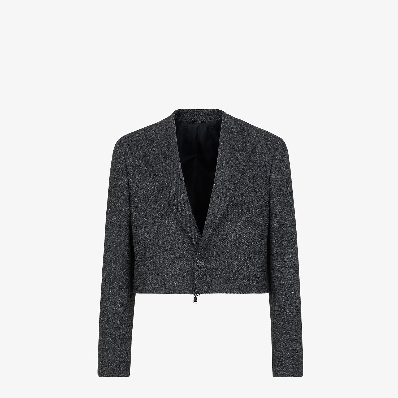 FENDI JACKET - Gray wool flannel blazer - view 6 detail