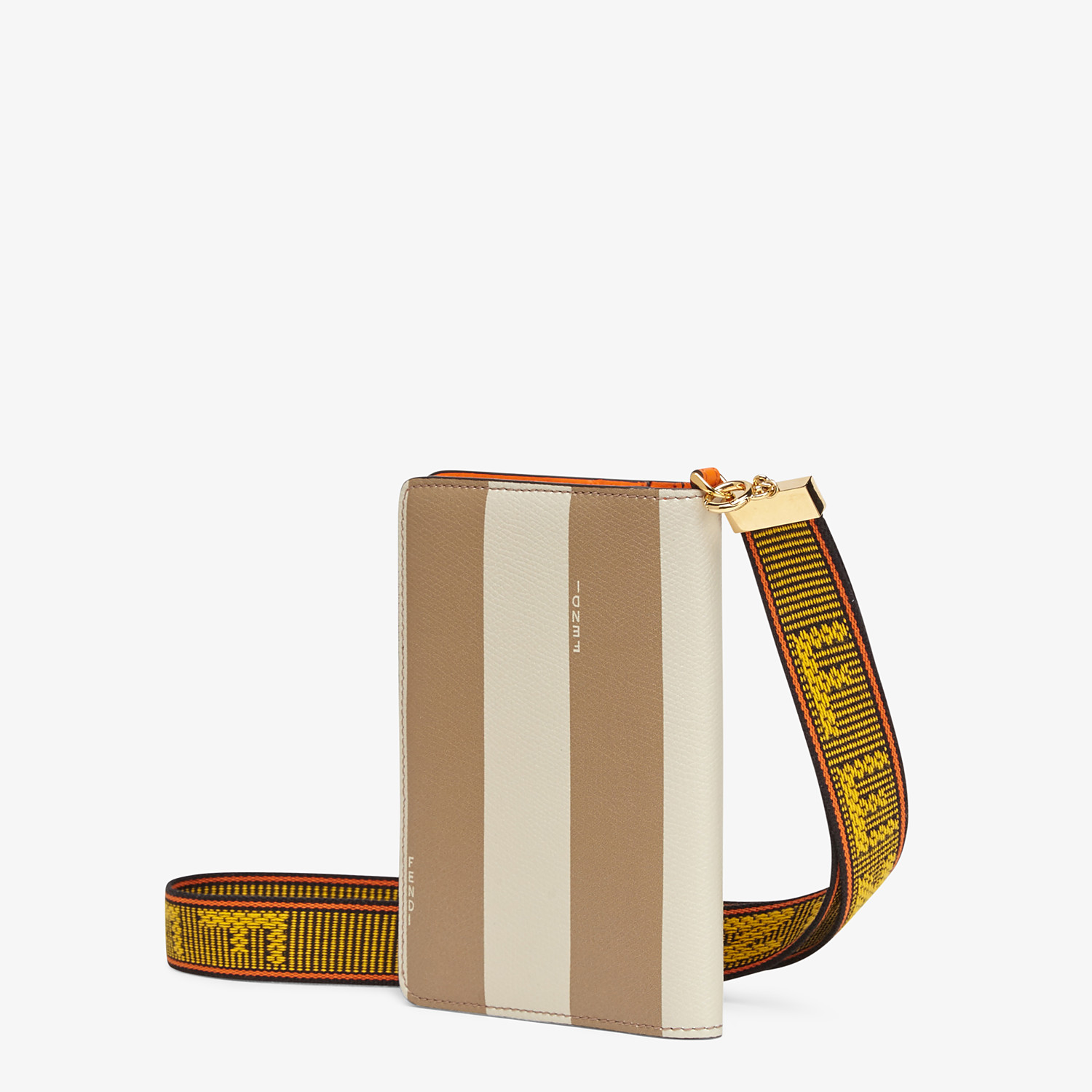 FENDI PASSPORT COVER - Brown leather passport cover - view 2 detail