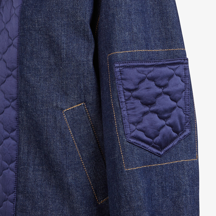 FENDI JACKET - Blue denim bomber jacket - view 3 detail