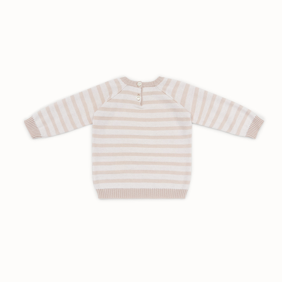 FENDI KNITTED BABY sweater - Knitted baby sweater with inlay - view 2 detail