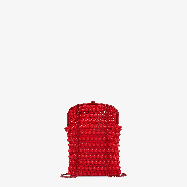FENDI BAGUETTE PHONE BAG - Red lace mini-bag - view 3 detail