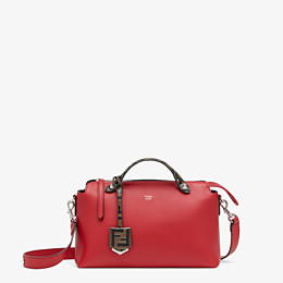 FENDI BY THE WAY MEDIUM - Red leather Boston bag - view 1 thumbnail