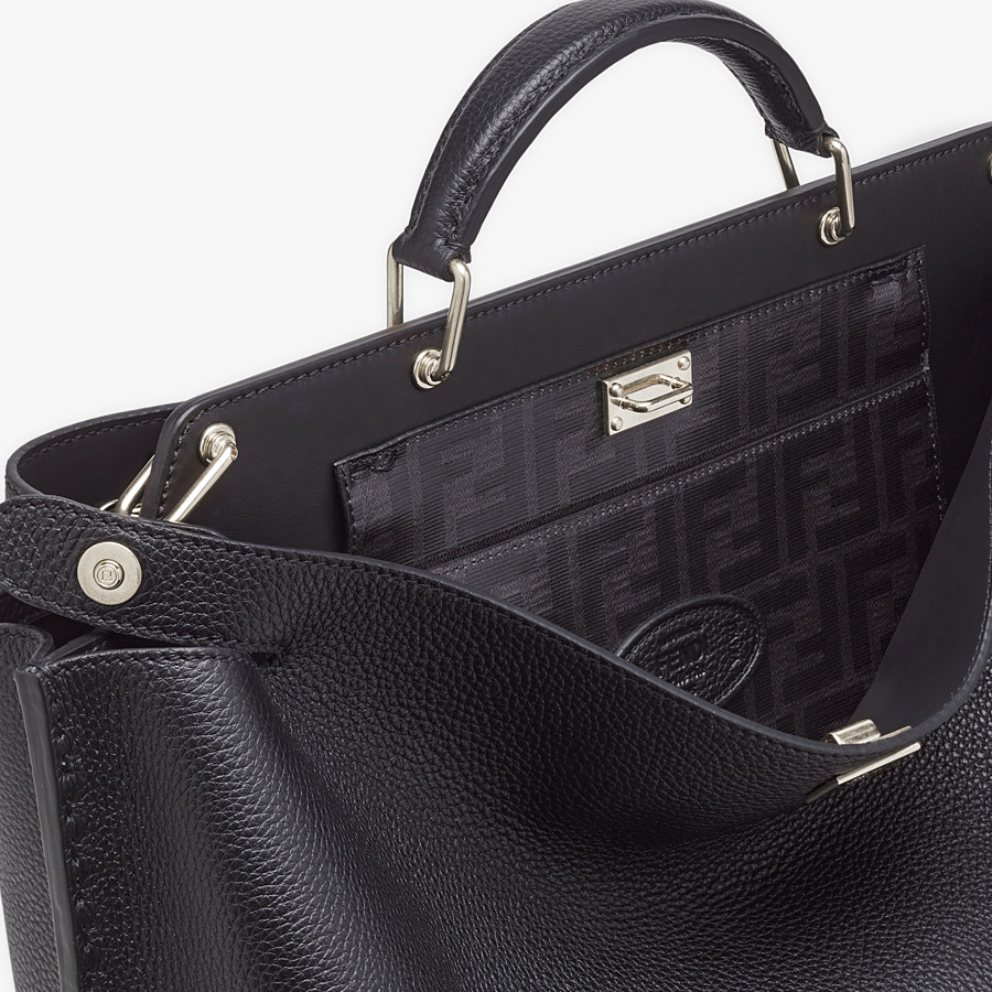 FENDI PEEKABOO ESSENTIAL - Black leather bag - view 5 detail