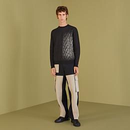 FENDI SWEATER - Black cotton sweater - view 4 thumbnail