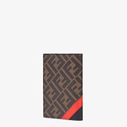 FENDI PASSPORT COVER - Brown fabric passport cover - view 2 thumbnail