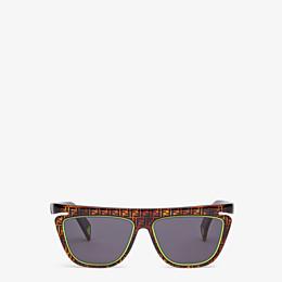 FENDI FFLUO - Sonnenbrille in Braun - view 1 thumbnail