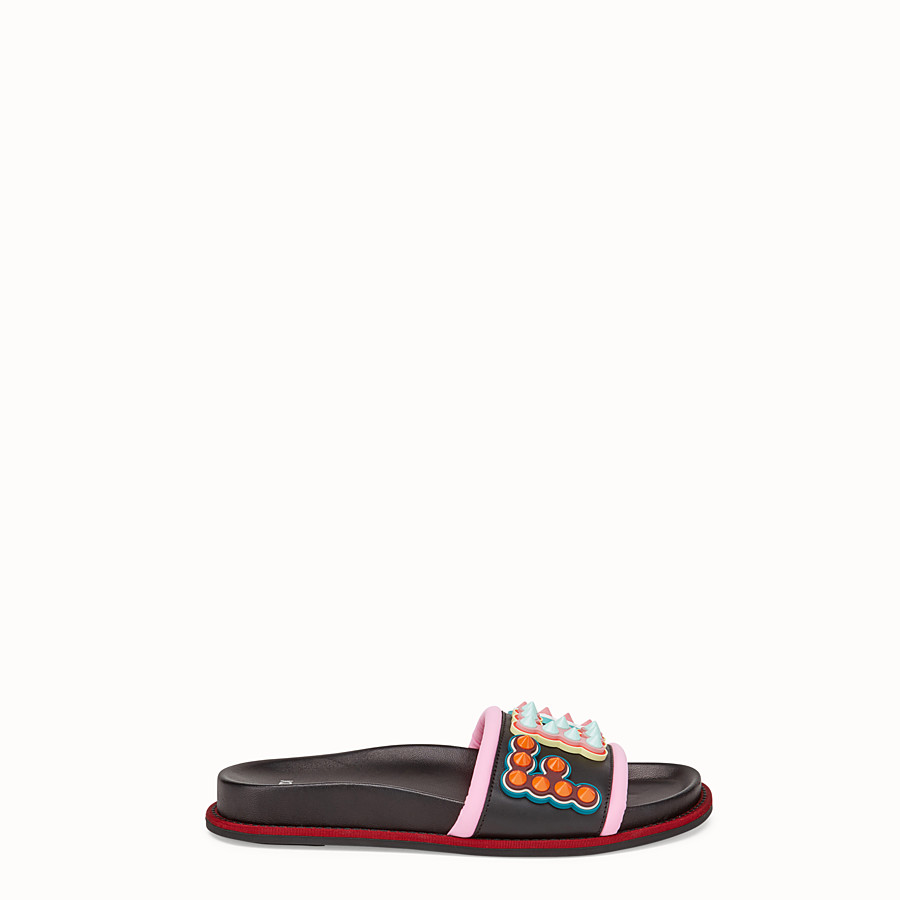 FENDI 涼鞋 - 黑色皮革涼鞋 - view 1 detail