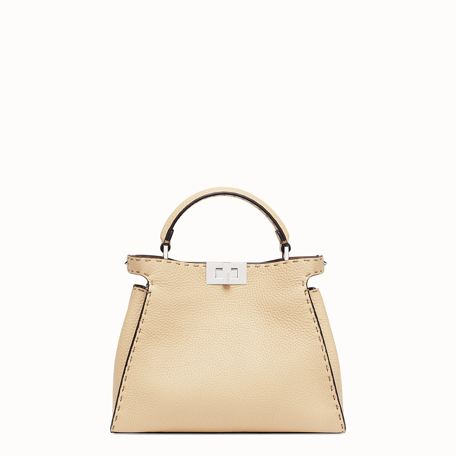 FENDI PEEKABOO ICONIC ESSENTIALLY - Beige leather bag - view 1 detail