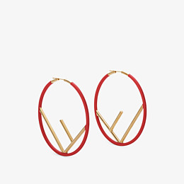 FENDI F IS FENDI EARRINGS - Gold and red coloured earrings - view 1 thumbnail