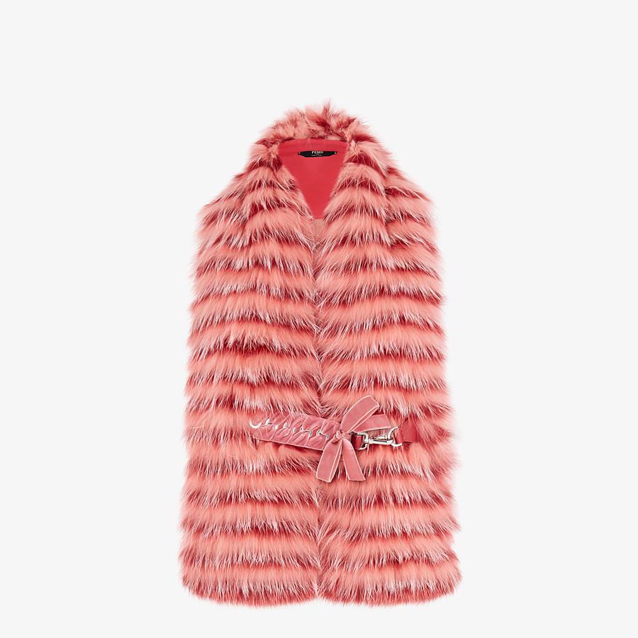 FENDI COLLAR - Pink fox fur collar - view 1 detail