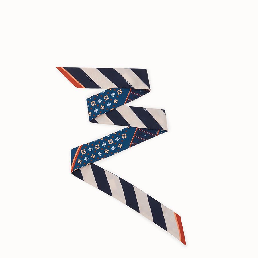 FENDI WRAPPY - Bandeau in seta multicolor - vista 1 dettaglio