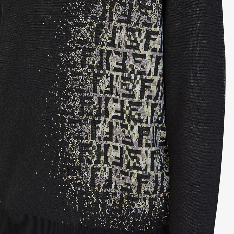 FENDI SWEATER - Black cotton sweater - view 3 detail