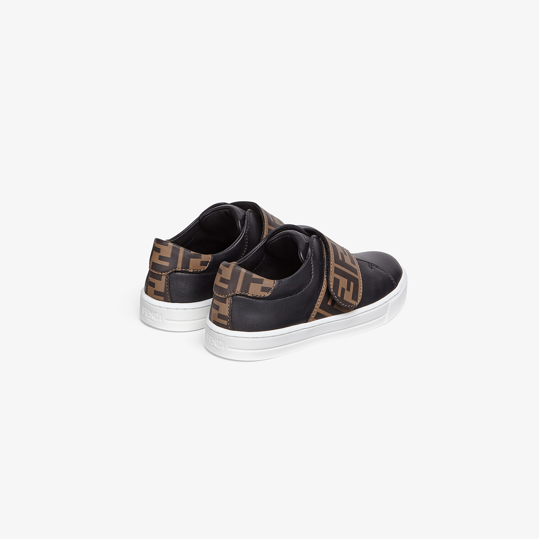 FENDI SNEAKERS - Nappa leather unisex junior sneakers - view 3 detail