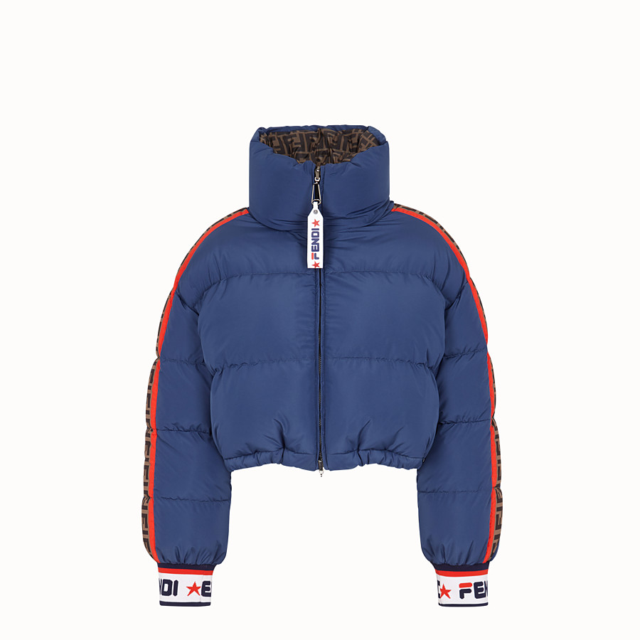 FENDI SHORT DOWN JACKET - Multicolour padded down jacket - view 1 detail