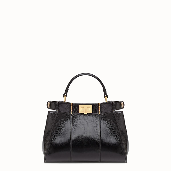 FENDI PEEKABOO ICONIC MINI - Bolso de piel negra - view 1 small thumbnail