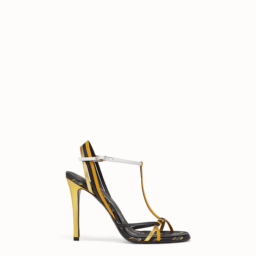 FENDI SANDALS - Multicolored leather sandals - view 1 detail
