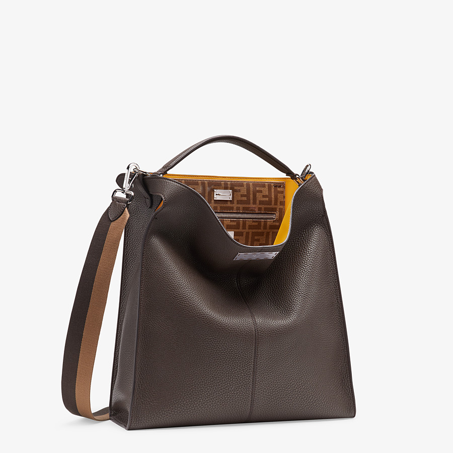 FENDI PEEKABOO X-LITE FIT - Tasche aus Leder in Braun - view 3 detail