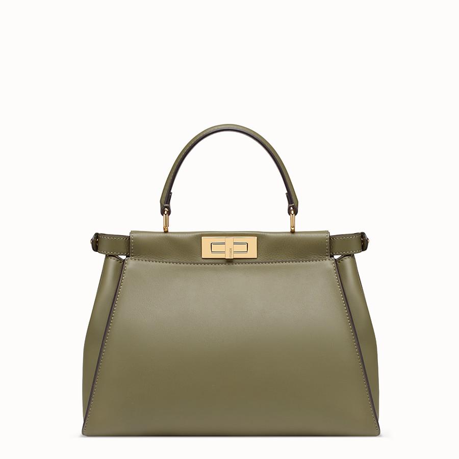 FENDI PEEKABOO REGULAR POCKET - Green leather bag - view 3 detail