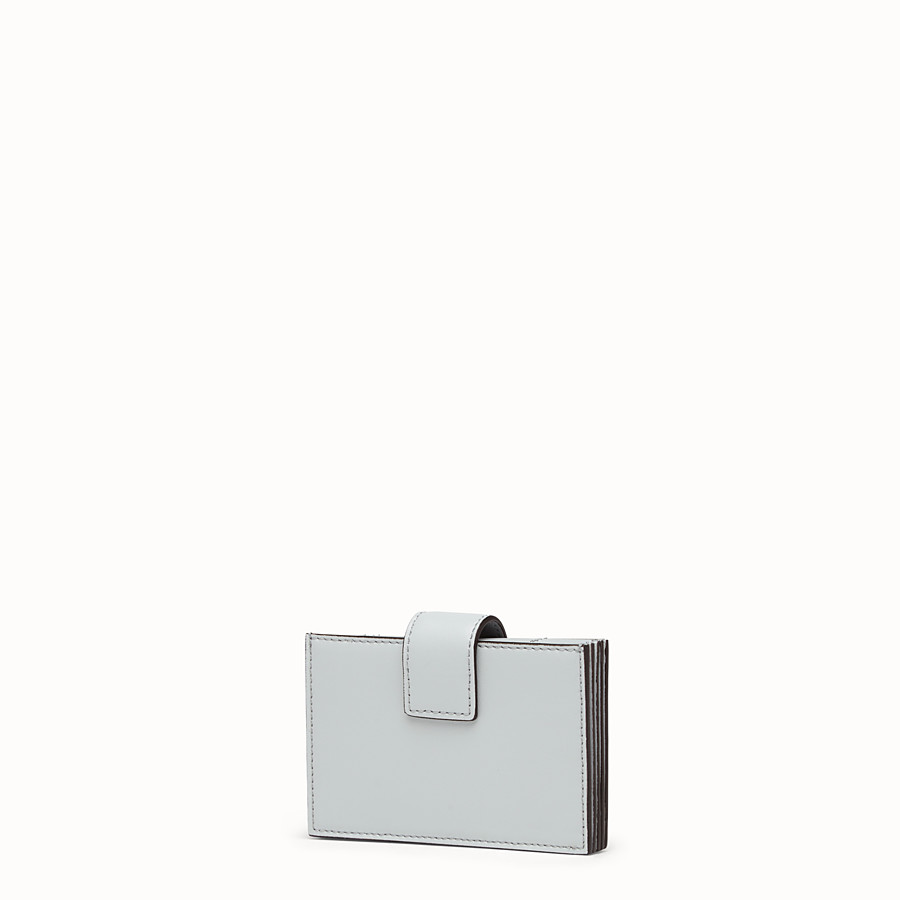 FENDI CARD HOLDER - Grey leather gusseted card holder - view 2 detail