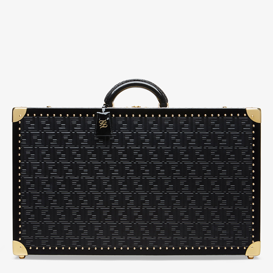 FENDI RIGID SUITCASE LARGE - Black leather suitcase - view 1 detail