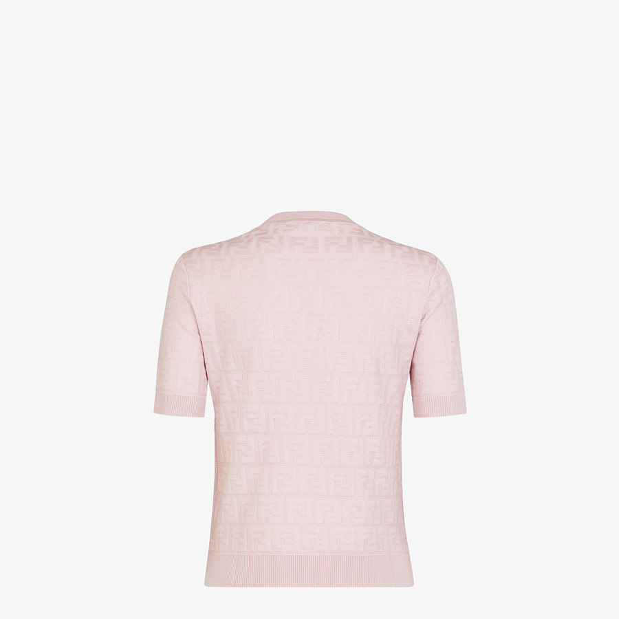 FENDI JUMPER - Pink cotton and viscose jumper - view 2 detail
