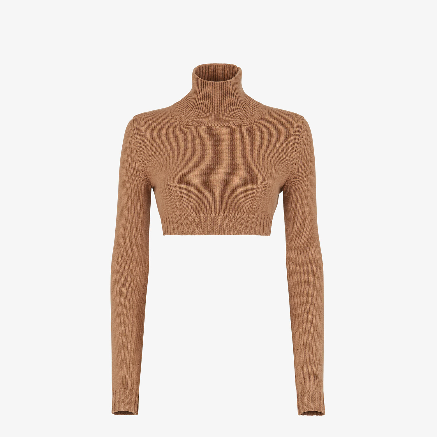 FENDI SWEATER - Brown cashmere sweater - view 1 detail