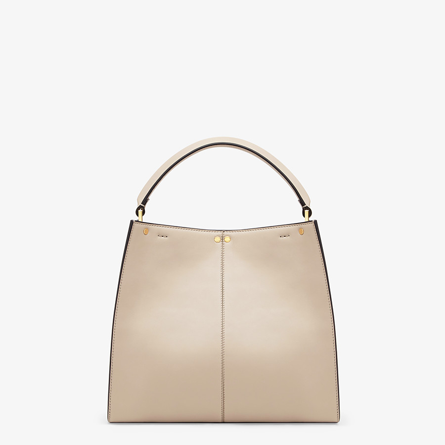 FENDI PEEKABOO X-LITE MEDIUM - Beige leather bag - view 5 detail