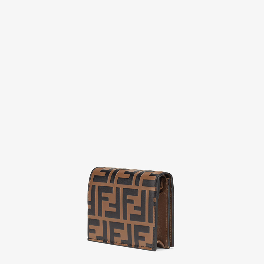 FENDI SMALL WALLET - Brown leather wallet - view 2 detail