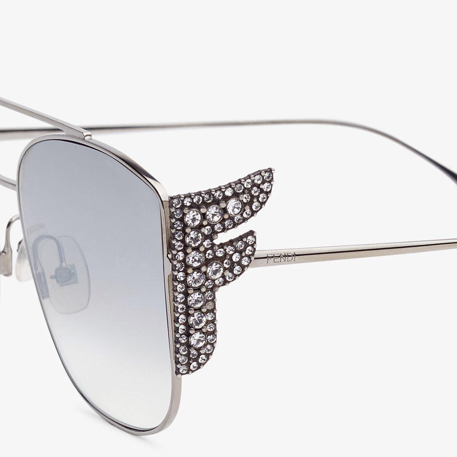 FENDI FFREEDOM - Silver-coloured sunglasses - view 3 detail