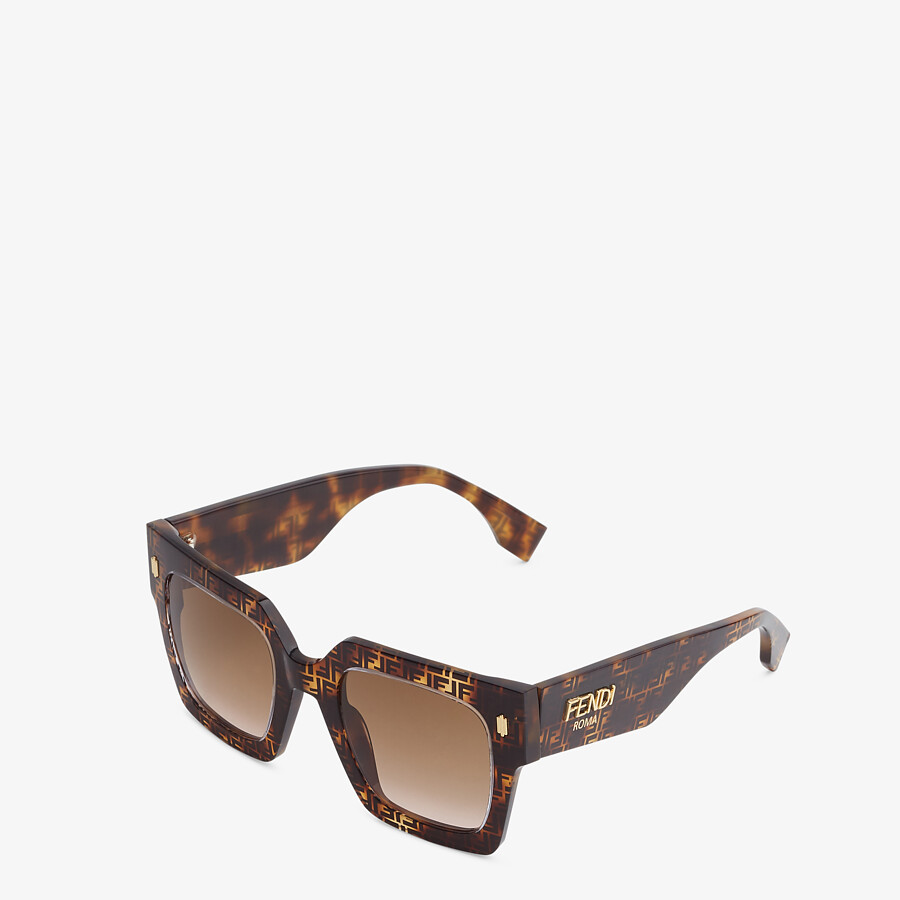 FENDI FENDI ROMA - FF Havana acetate sunglasses - view 2 detail