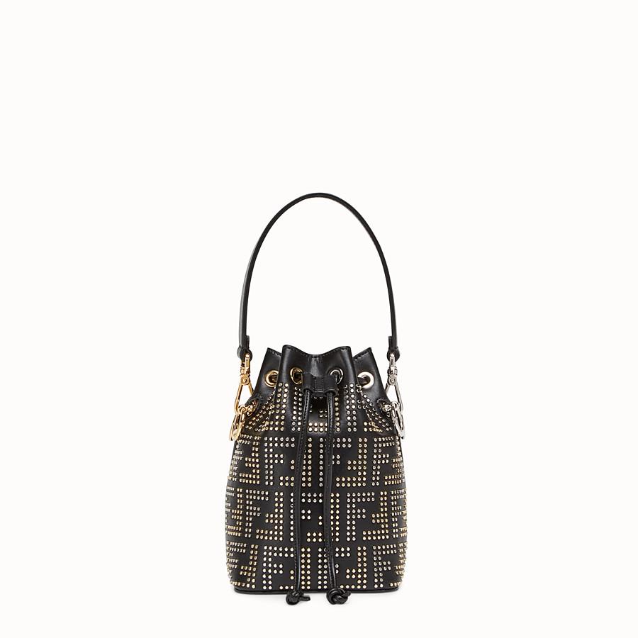 5eecc6cdcf229 Black leather mini-bag - MON TRESOR